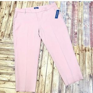 Old Navy Harper mid rise rose pink ankle pants NWT